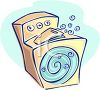Household Clothes Washer or Washing Machine Doing the Laundry clipart