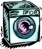 Front Loader Washing Machine or Clothes Washer clipart