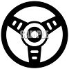 Simple Steering Wheel Graphic from a Car clipart
