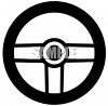 Steering Wheel Icon Silhouette clipart