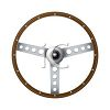 Steering wheel isolated on a white background clipart