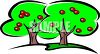 Fruit Trees in an Orchard clipart
