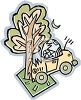 Automobile That Has Crashed into a Tree - Auto Insurance clipart