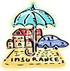 Umbrella Symbolizing the Protection That Insurance Provides for Autos and Home clipart