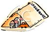 Symbol of Insurance Covering a Family's Home and Auto clipart