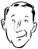 Man Having a Thought or Daydream clipart