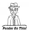 Thinking Man Says, Ponder on This… clipart