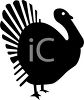 Silhouette of a Live Turkey clipart