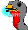 A. turkeys head clipart