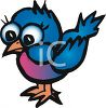 cute little cartoon bird clipart