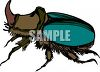 Horned beetle insect clipart