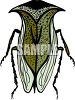 Strange insect or bug with a helmet shaped head and wings clipart
