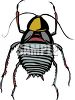 Short, fat little bug or insect clipart