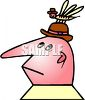 Man being bugged by a bug on his head clipart
