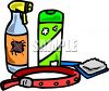 Pet Items and products to control fleas on dogs and cats clipart