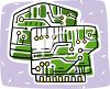 Drawings of computer circuit boards clipart