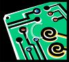 Simple drawing of a circuit board clipart