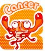 Cancer the crab sign of the zodiac clipart