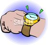 Wristwatch on a man's hand clipart