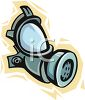 Gas mask as viewed from the side clipart