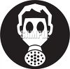 Icon of a person wearing a gas mask clipart