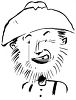 Scruffy looking old hillbilly man clipart