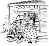 Man and woman hillbilly couple � husband-and-wife clipart