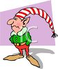 Gloomy looking Christmas elf, one of Santa's helpers clipart