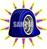 Flat tire clipart