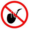 clip art image of a no smoking pipes sign clipart
