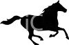 a silhouette clip art of a horse running on a white background clipart