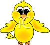 clipart illustration of a yellow bird clipart