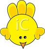 cartoon clip art of a yellow bird clipart