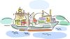 clipart of an ocean cruiser sailing in the ocean clipart