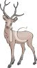 a clip art illustration of a deer standing at attention clipart