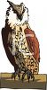 clip art illustration of a barn owl sitting on a perch clipart