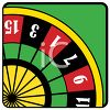 clip art illustration of part of a roulette table on a green background clipart