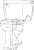 Drawing of a toilet clipart