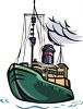 cartoon clip art of a ship on the sea clipart