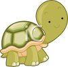 clip art illustration of an adorable turtle walking clipart