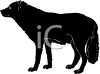 Clip Art Of A black dog standing clipart