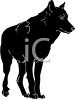 clip art of a black dog standing with one foot up off the ground clipart