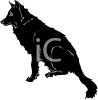 clip art of a large black furry dog clipart