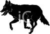 clip art image of a black dog running clipart
