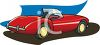 clip art illustration of a red convertible clipart