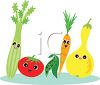 clip art illustration of a variety of healthy fruits and vegetables clipart
