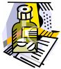 clip art illustration of a bottle of prescription pills on a shelf  clipart