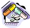 Picture of prescription pills in a clip art vector illustration clipart