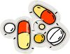 picture of prescription medication in a vector clip art illustration clipart