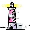 clip art illustration of a lighthouse clipart